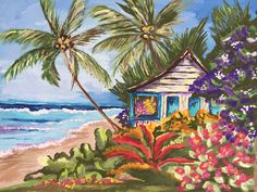 I am a tropical artist from Bradenton, FL. My goal is to bring my art to you through a wide array of colorful purses for the tropical lifestyle. Here's to livin' the beach life thru a tropical world of color. Tropical Colors, Tropical Art, Cottage Art, Ship Art, Canvas Prints, Art Prints, World Of Color, Love Painting, Beach Cottages