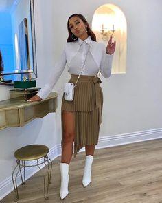 Classy Outfits, Stylish Outfits, Modern Fashion Outfits, Workwear Fashion, Women's Fashion, Black Girl Fashion, Fashion Looks, Chic Fashion Style, Classy Fashion
