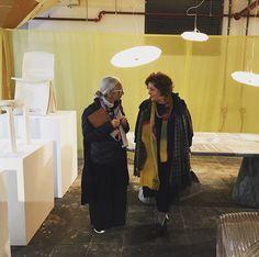 Rossana ( @rossana_orlandi ) and Lina  at the stand of Dirk Vander Kooij at Stripe S #ro #rossanaorlandi #gallery #design #art #luxury #designshop #designers #gypset #bohemian #jetset #wanderlust #wonderland #love #holland #eindhoven #unique #instacool #instatravel #travellers #glam #artistic #girkvanderkooij #ddw #dutchdesignweek2015 📷 @tatiuzlova