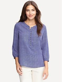 Dot print blouse | Banana Republic $69.50