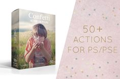 Confetti Photoshop actions by Isabelle Lafrance Photo on Creative Market