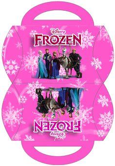 Frozen en Rosa: Cajas para Imprimir Gratis.