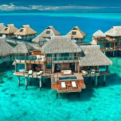 Hilton Nui Resort Bora Bora. I'm so drawn to these watery location.  Weird, as I live in a city by the ocean. You'd like I'd look for a mountainous retreat.