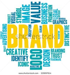 Brand word cloud on a white background.  - stock vector