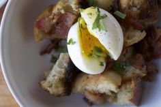 A great way to use up that last bit of stale bread AND have a delicious breakfast.