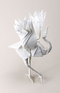 OIseau en papier #oiseau #papier #paperart by vicki