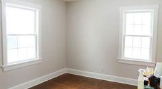 Paint Whetstone Gray; Trim Valspar Bistro White - maybe bedrooms