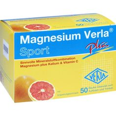 MAGNESIUM VERLA plus Granulat:   Packungsinhalt: 50 St Granulat PZN: 01007872 Hersteller: VERLA-PHARM Arzneimittel Preis: 11,15 EUR inkl.…