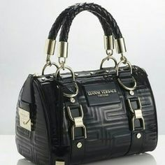 0546cbd4637 VERSACE COLLECTION Versace Gianni Versace Couture Patent leather handbag in  black from Versace Couture featuring braided. Poshmark