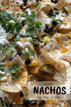 For gatherings, game days, movie night and even dinner these nachos for a crowd are the best. Layer fixings and bake them in the oven and feel like a genius.