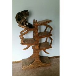 Turn your furry friend into a lover of functional art with this beautifully inspired cat tree! Each cat tree is handmade from start to finish.