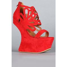 Jeffrey Campbell Shoes Women's The Corleone Shoe in Dark Red Suede, Shoes