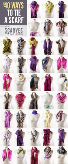 40  Ways to Tie a Scarf   Knot Library