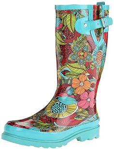 Western Chief Women's Floral Fantasy Rain Boot