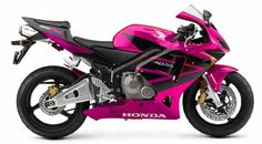 Honda CBR 600, my future baby. And the hot pink just makes it.