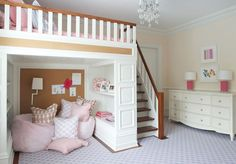 Girls Room with lofted bed | Nightingale Design