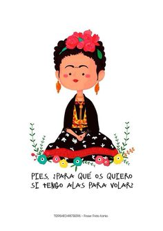 Risultati immagini per frida kahlo caricatura frases Diego Rivera, Blog Couture, Spanish Quotes, Oeuvre D'art, Favorite Quotes, Favorite Things, Illustration Art, Words, Cute