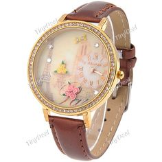 I love Quartz Watch, Watches, My Style, Rhinestones, Tower, Collections, Accessories, Leather, Decor