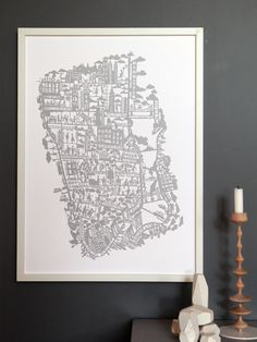 New York City hand screen printed city map New York City Map, City Maps, Screen Print Poster, Poster Prints, Plan New York, Carte New York, Original Artwork, Original Paintings, Houses