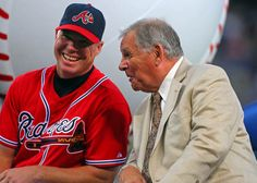 Sept. 28, 2012 - Tribute night.  I wonder what Bobby is saying to Chipper!