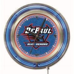 DePaul Blue Demons 15-Inch Neon Logo Clock