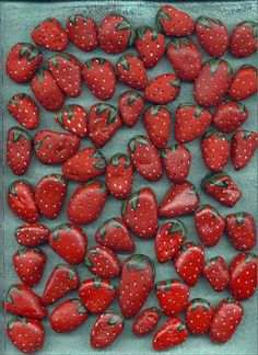Stones Painted As Strawberries When Put Around Strawberry Plants In The Spring Will Keep Birds From Eating Your Berries Because The Birds Will Think The Stones Are Ripened Berries ...Click On Picture For Instructions On How To Make...