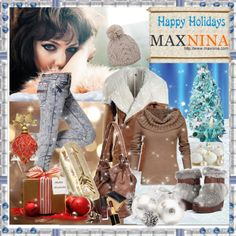 """Sponsored contest with www.maxnina.com"" by hobitanija ❤ liked on Polyvore"
