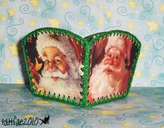 Christmas card baskets - OCCASIONS AND HOLIDAYS Xmas Crafts, Fun Crafts, Paper Crafts, Christmas Tag, Crochet Christmas, Card Basket, Crochet Box, Make Your Own Card, Card Boxes