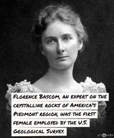 Florence Bascom - the first female employee of the U.S. Geological Survey. #WomenInSTEM, #WomensHistoryMonth, #Pioneers