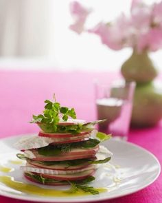 Apple and Chévre Salad with Honey Vinaigrette. The perfect Valentines appetizer. #SweetPaul