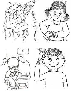 atividades higiene pessoal educação infantil - Pesquisa Google