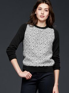 Jacquard pullover sweater Product Image