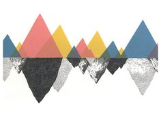 Mountain Triangles / Reserved please do not purchase by JamieMilk