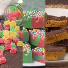 Candy Recipes, Dessert Recipes, Make Rock Candy, Healthy Candy, Giant Food, Cake Decorating Videos, Tasty, Yummy Food, Food Porn