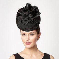 Top Hat by Stephen Jones Black Ruffled Floral Fascinator- at Debenhams.com