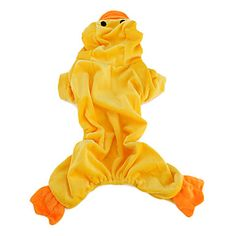 Duck Shaped Soft Hoodie Costume for Dogs (XS-XL, Yellow) – USD $ 8.39