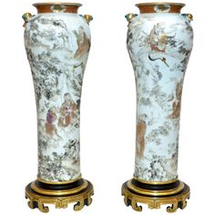 Rare Pair of chinesese porcelain vases. | From a unique collection of antique and modern vases at http://www.1stdibs.com/furniture/dining-entertaining/vases/