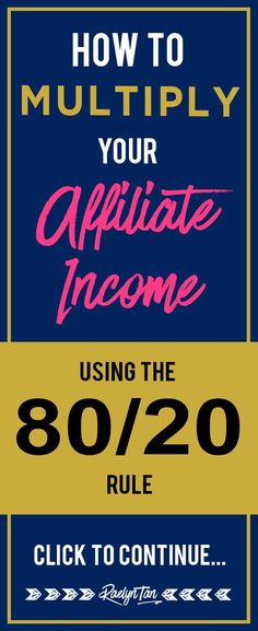 Wondering how to make more affiliate income? Multiply your affiliate income and make more money with these tips! Rock your internet marketing today.