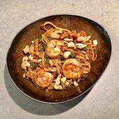 Kung pao garnalen met Japanse noodles - Ontroerend Lekker