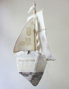 paper mache ship by Ann Wood
