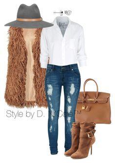 Jeans roris camisa blanca chalexo pelos cafe botas y bolsa cafe