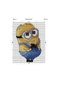 Znalezione obrazy dla zapytania free cross stitch patterns: minions