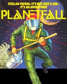 """The box art illustration for """"Planetfall,"""" Steve Meretzky's sci-fi text adventure released by Infocom in 1983 for all manner of home computers."""