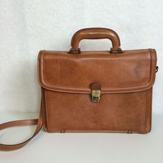 Georgetown Leather Designs Messenger Shoulder Bag Briefcase Brown With Key #GeorgetownLeatherDesign #BriefcaseAttache