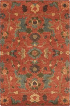 Surya ANA8411 Anastacia Orange Rectangle Area Rug