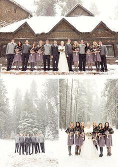 Winter Wedding in lavender and gray.  ©2012JenniferEileen