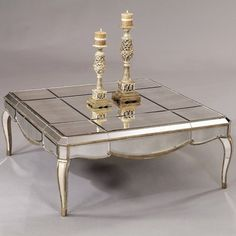 Bassett Mirror Collette Square Coffee Table -- love this for formal living room