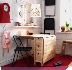 sewing/craft table idea. norden drop leaf table from Ikea