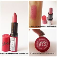 Perfect packaging , lovely color and an amazing formula that's how you can define Kate Moss for Rimmel Lasting Finish Matte Lipstick in Shade 103 Rossetto/Rouge A Levres in one line Rimmel London Rimmel London - Pakistan Fanpage    for more details , check my review here     http://makeupoholics.blogspot.com/2012/11/review-and-swatches-kate-moss-for.html