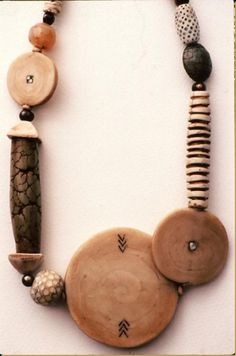 Tory Hughes - faux ivory imitative necklace: polymer clay